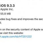 รวมช่องทางโหลด iOS 9.3.3 แบบไฟล์ (IPSW) สำหรับ iPhone, iPad และ iPod Touch