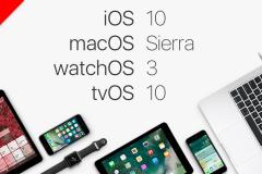 iOS 10, macOS Sierra, watchOS 3, tvos 3 golden master