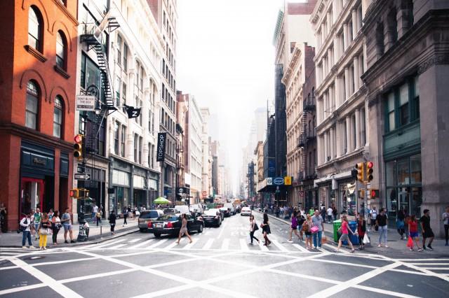 ย่าน SoHo เป็นย่านการค้ายอดฮิตกลางกรุง New York City
