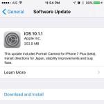 รวมช่องทางโหลด iOS 10.1.1 แบบไฟล์ (IPSW) สำหรับ iPhone, iPad และ iPod Touch