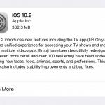 Apple ออกอัพเดต iOS 10.2 เพิ่มแอพ TV และเพิ่มอีโมจิ กว่า 100 รายการ!