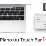 นักพัฒนาหัวใส ทำแอพ Touch Bar Piano มาเล่นบน MacBook Pro รุ่นใหม่ โหลดฟรี !!