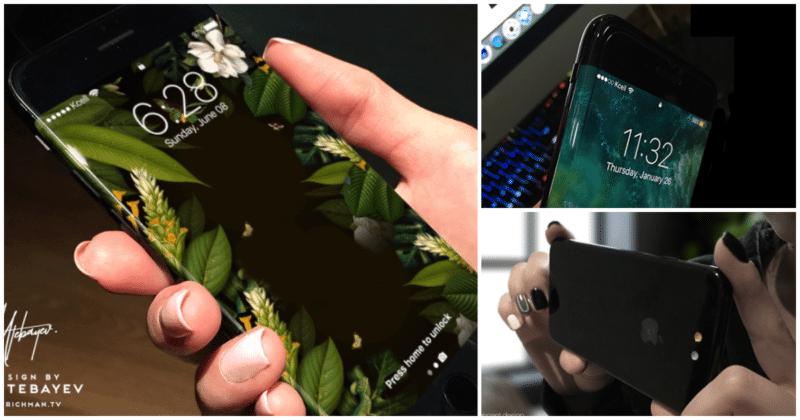 concept iphone 8 by Iskander Utebayev