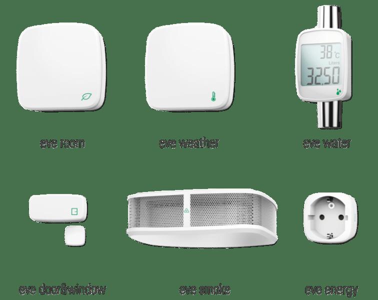 บางส่วนของผลิตภัณฑ์ที่รองรับ HomeKit ของแอปเปิล