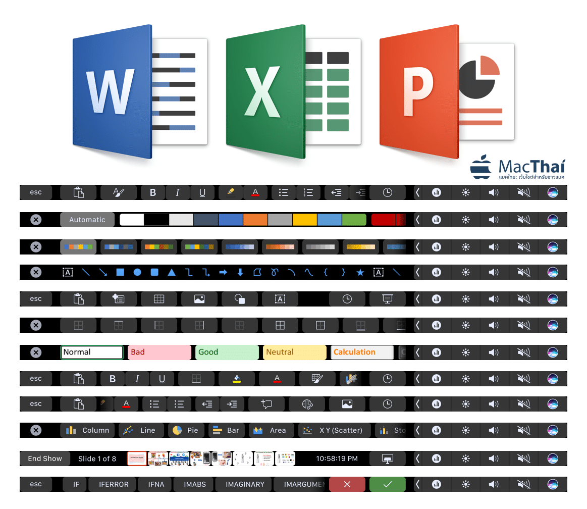 touch bar microsoft office