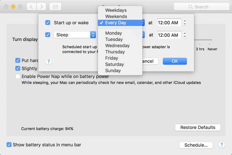 how to schedule mac to sleep wake up restart shutdown-2