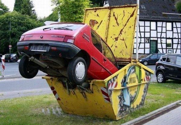car-in-dumpster