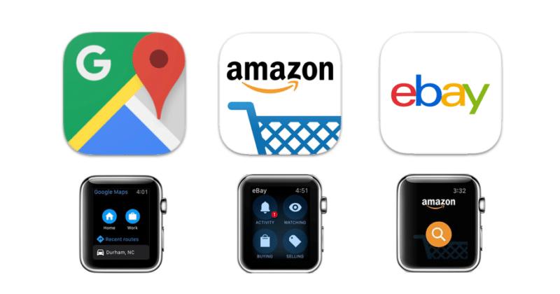 google-maps-amazon-ebay-drop-apple-watch-support