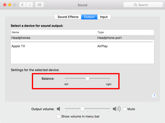 how to balance sound headphone ios macos-4