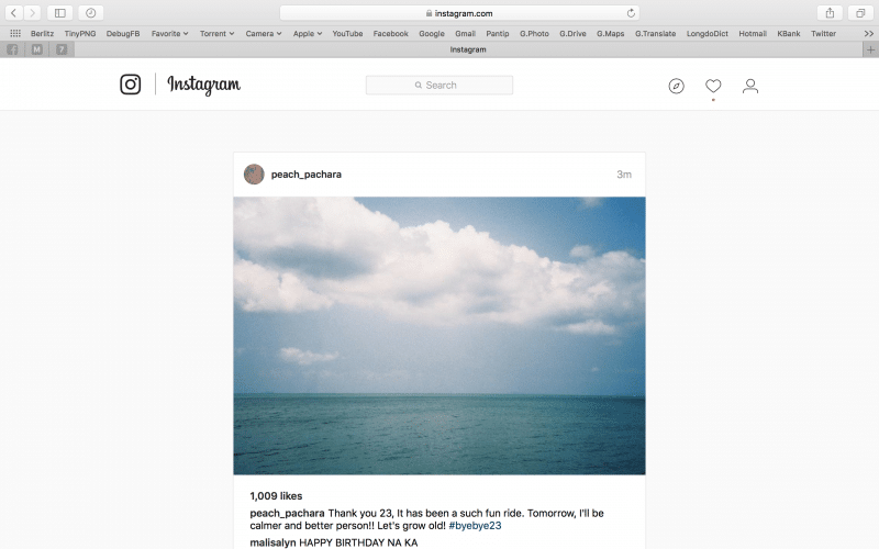 how to post photo in instagram by PC-8