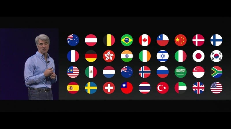 Siri รองรับภาษาต่างๆ