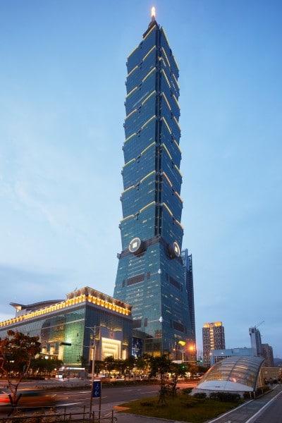 อาคาร Taipei 101 ซึ่ง Apple retail จะตั้งอยู่ที่ชั้น G