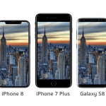 ชมภาพแบบจำลอง iPhone 8 เทียบกับ iPhone 7, 7 Plus และ Samsung Galaxy S8, S8+