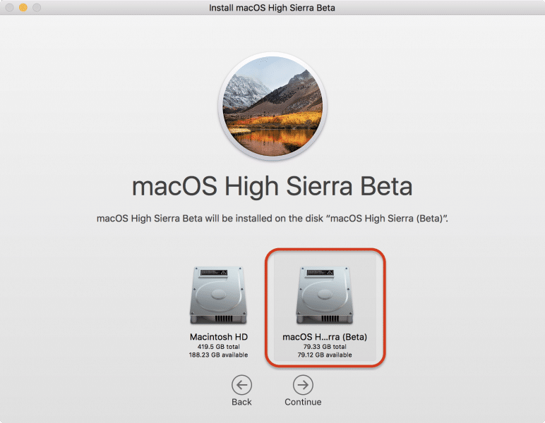 how to install macos high sierra by partition disk-14