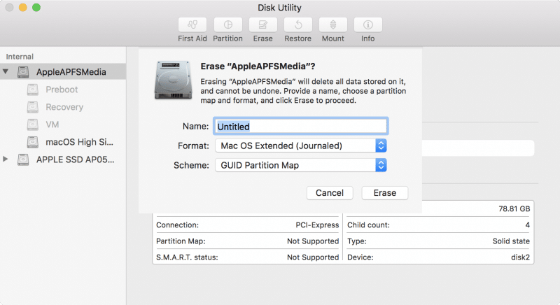how to install macos high sierra by partition disk-19