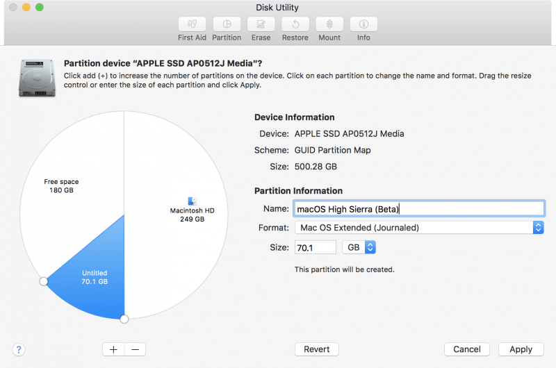 how to install macos high sierra by partition disk-2