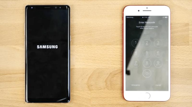 speed test samsung galaxy note 8 iphone 7 plus 2