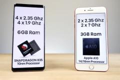 speed test samsung galaxy note 8 iphone 7 plus 9
