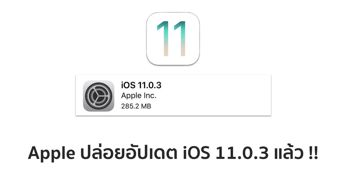 ios 11.0.3 2