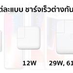 เปรียบเทียบที่ชาร์จ Apple แบบต่าง ๆ มาดูกัน iPhone 8 จะชาร์จเร็วกว่าเดิมแค่ไหน