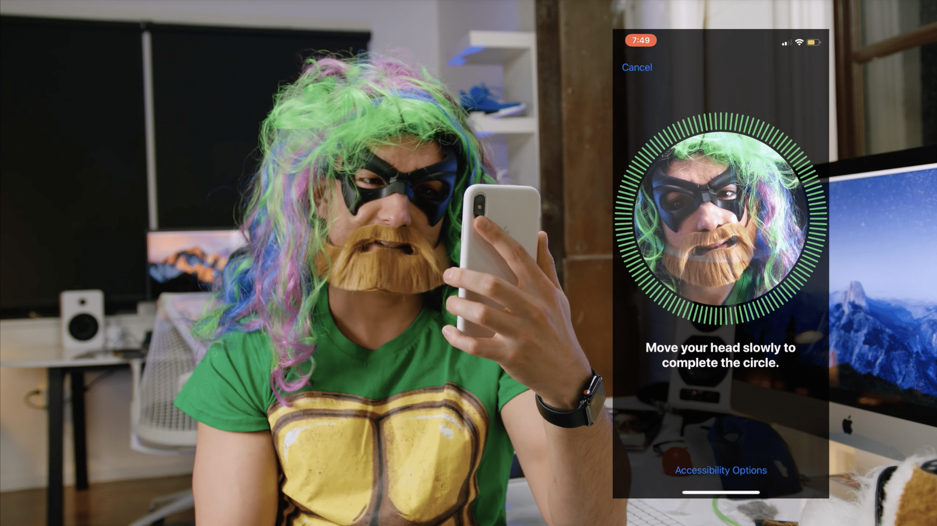 face-id-testing-with-halloween-customs