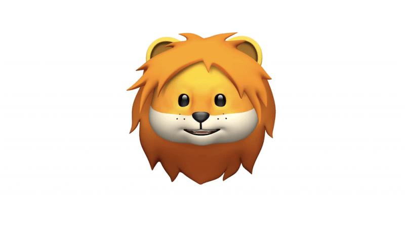 Animoji รูปสิงโตใน iOS 11.3 ภาพจาก Apple Newsroom