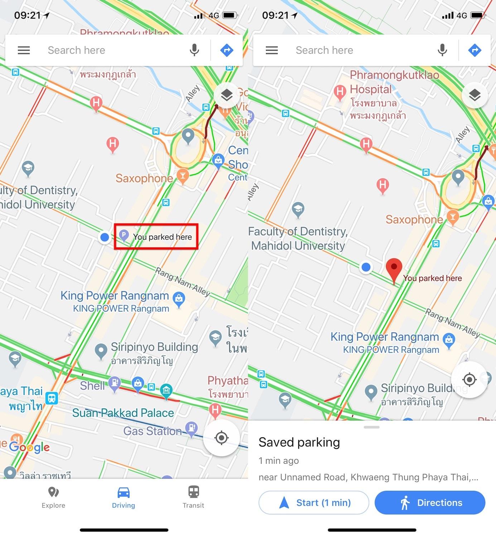google maps pin to car parking-1