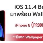 Apple ปล่อย iOS 11.4 Beta 2 ให้นักพัฒนา มาพร้อม Wallpaper iPhone 8 (PRODUCT)RED ใหม่