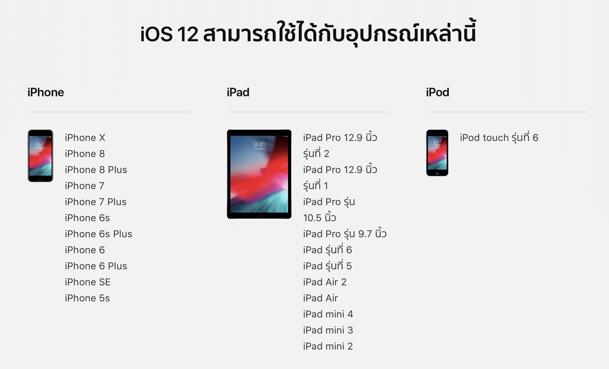 ios 12 compatibility