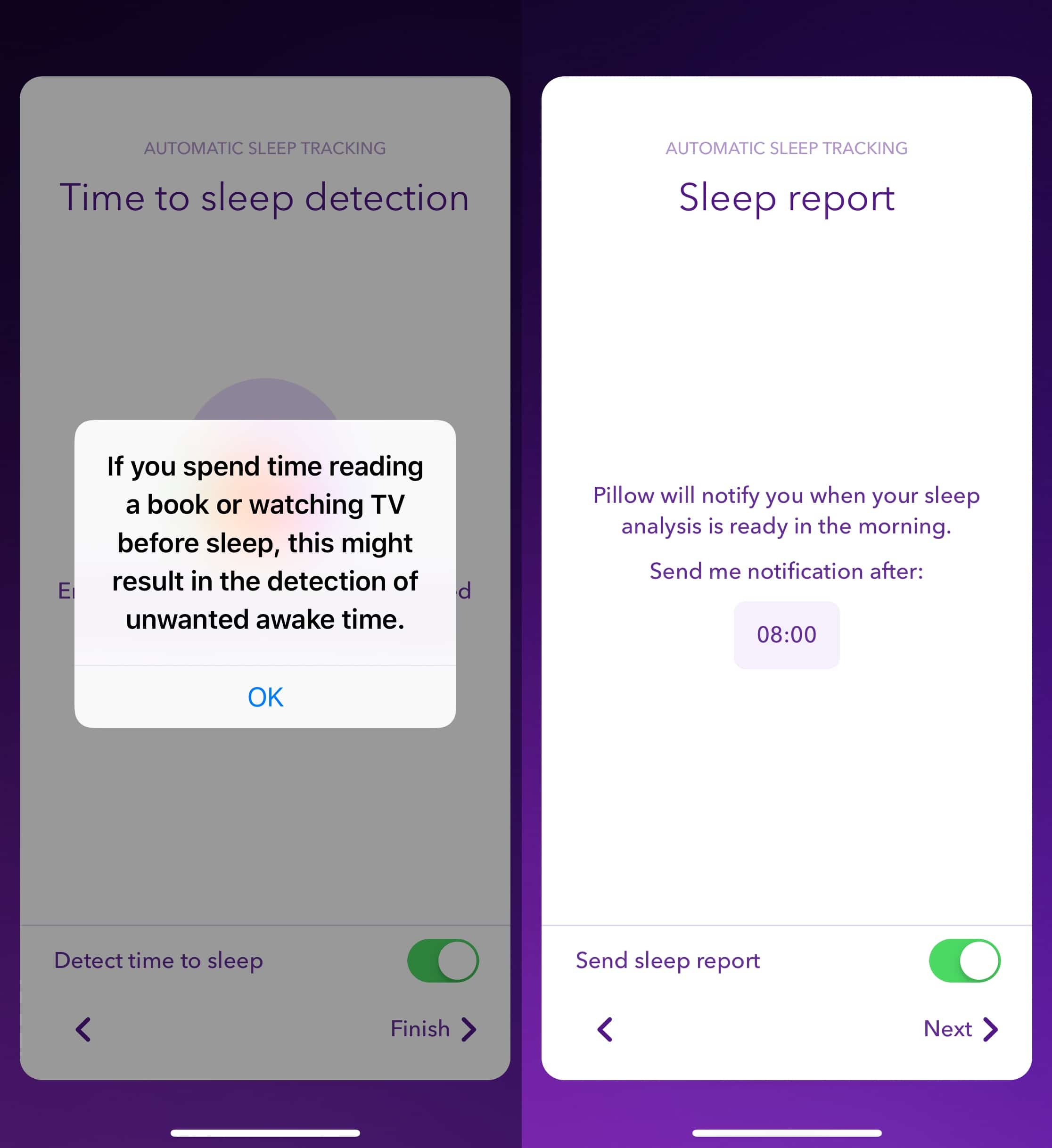 pillow 3.6 Automatic sleep tracking 1