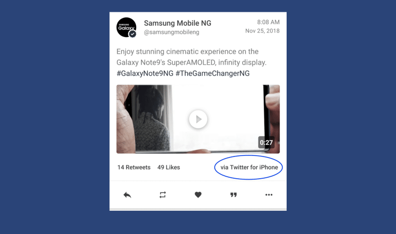 samsung-tweet-promote-galaxy-note-9-from-iphone