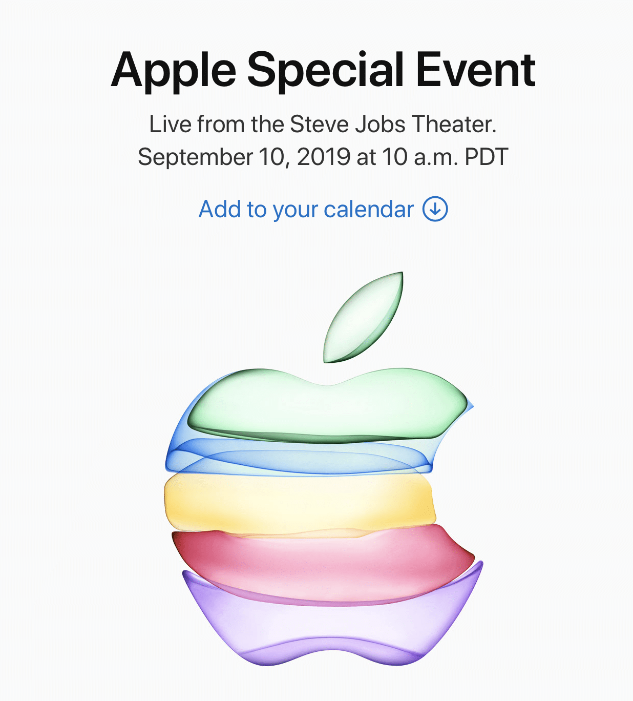 Apple Special event iphone 11 sep 2019
