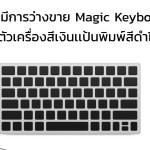 อาจมีการวางจำหน่าย Magic Keyboard รุ่นใหม่มีตัวเครื่องสีเงินเเป้นพิมพ์สีดำเเละไม่มีปุ่มตัวเลข