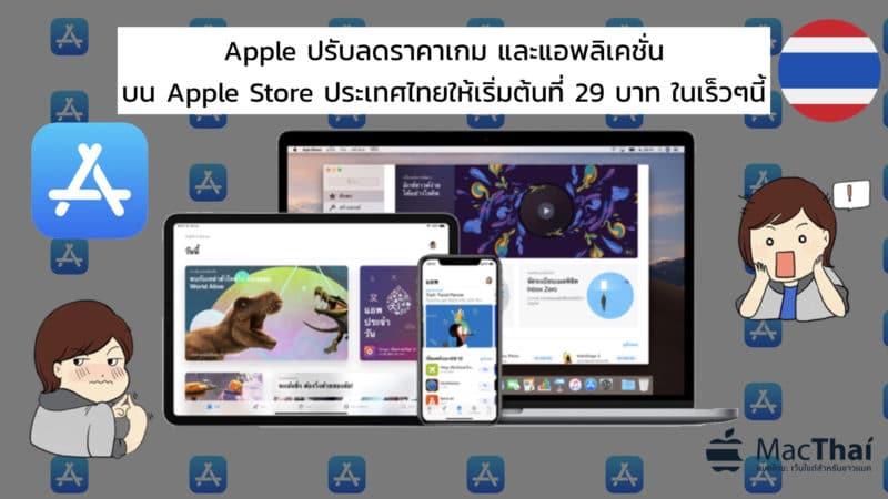 Apple ปรับลดราคาเกม และแอพพลิเคชั่นบน App Store ประเทศไทยให้เริ่มต้นที่ 29 บาท ในเร็วๆนี้!