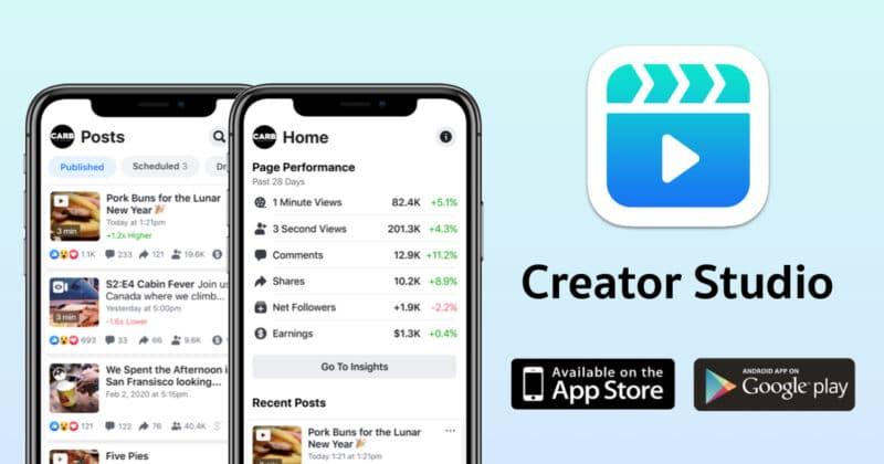 Facebook เปิดตัว Creator Studio แอปจัดการโพสต์ใหม่ ที่คนทำเพจควรจะมี !!