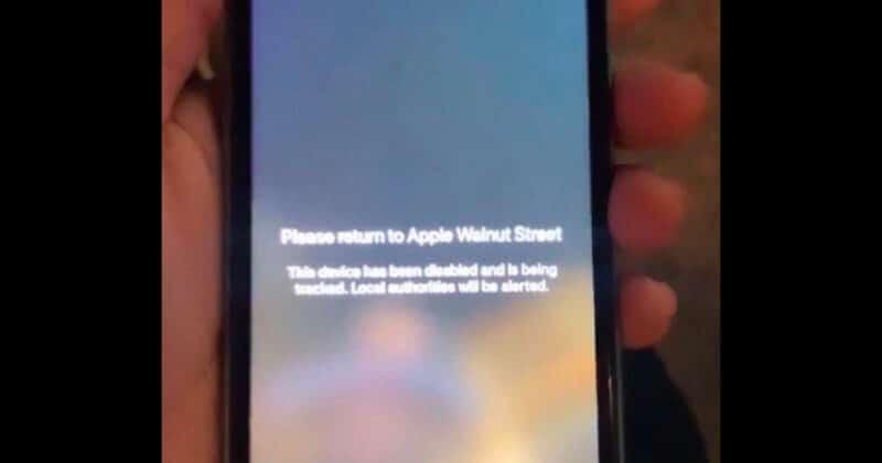 Apple แสดงข้อความเตือนบน iPhone ที่ถูกหยิบฉวยไป ระบุว่าเครื่องนี้ถูกทำให้ใช้ไม่ได้และกำลังติดตามเครื่องอยู่