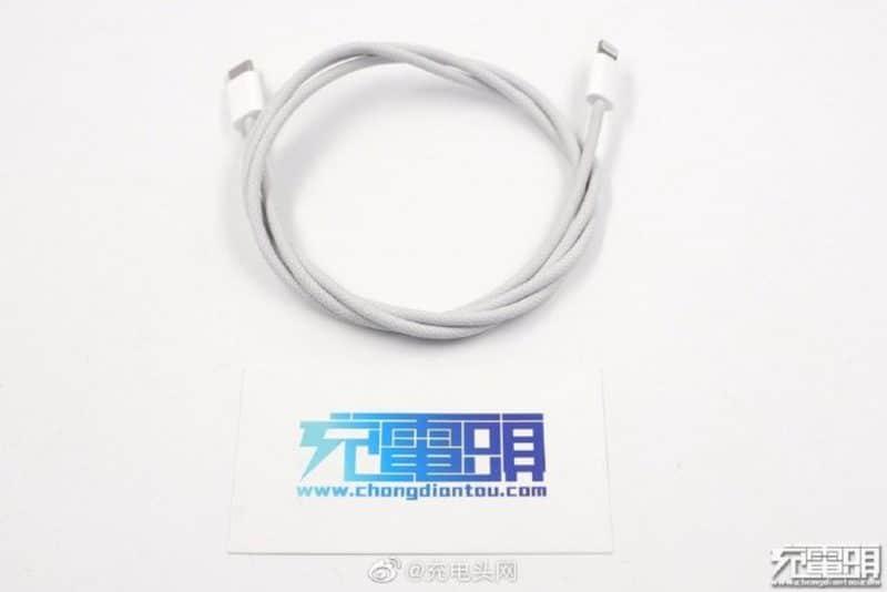 เผยภาพหลุดสายชาร์จตัวใหม่ คาดมาพร้อม iPhone 12 เป็น 'สายถัก' USB-C to Lightning ทนกว่าเดิม?!