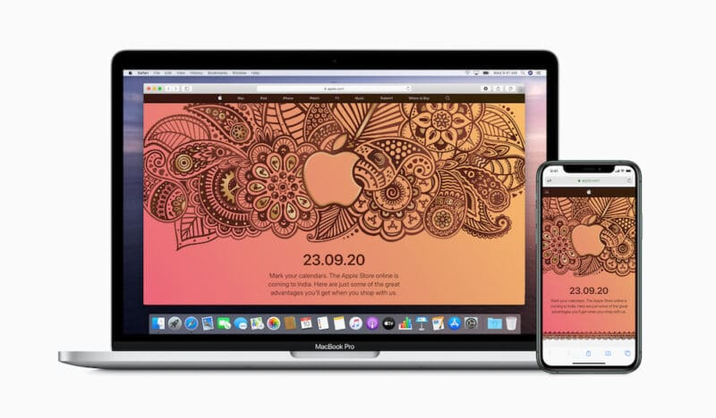 Apple online จะเปิดจำหน่ายสินค้าในอินเดียวันที่ 23 กันยายนนี้