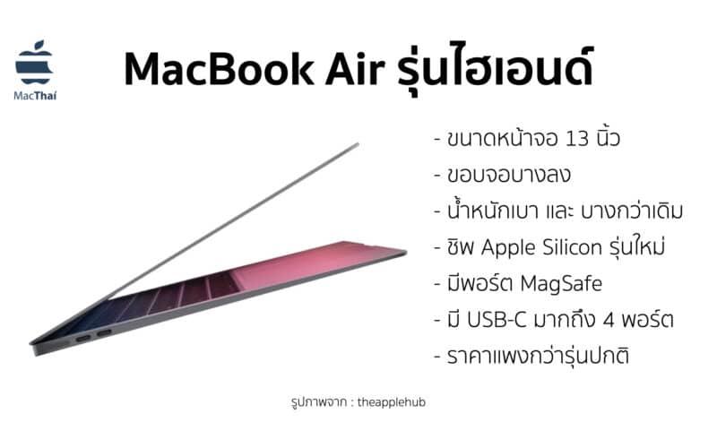 [ลือ] Apple กำลังพัฒนา MacBook Air รุ่นไฮเอนด์ ที่มีพอร์ต MagSafe และตัวเครื่องที่เบา และ บางกว่า