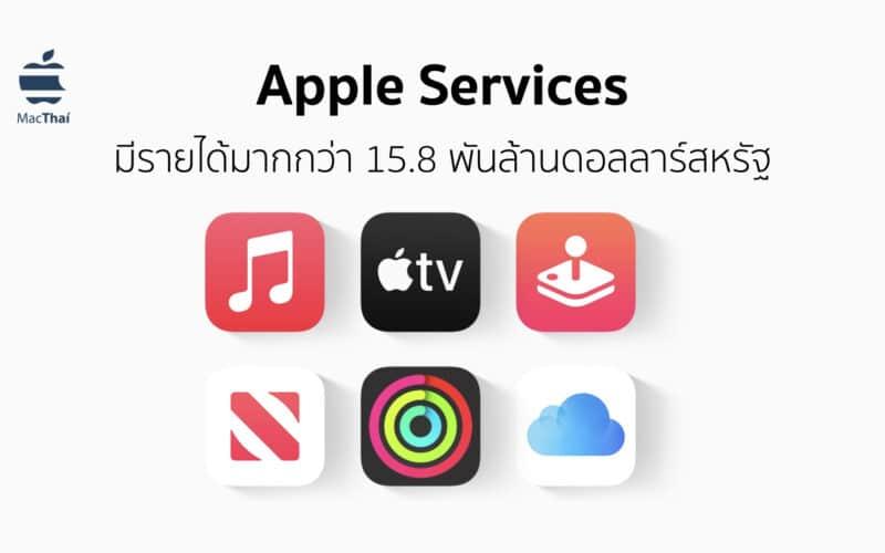 Apple Services มีรายได้ประจำไตรมาสแรกของปี 2021 มากถึง 15.8 พันล้านดอลลาร์สหรัฐ
