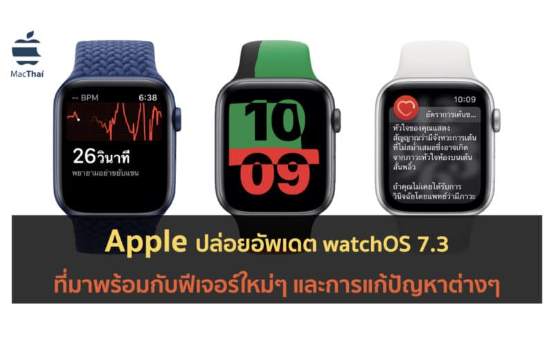 Apple ปล่อย watchOS 7.3 ที่มาพร้อมกับการรองรับ ECG ในประเทศไทย และอื่นๆ