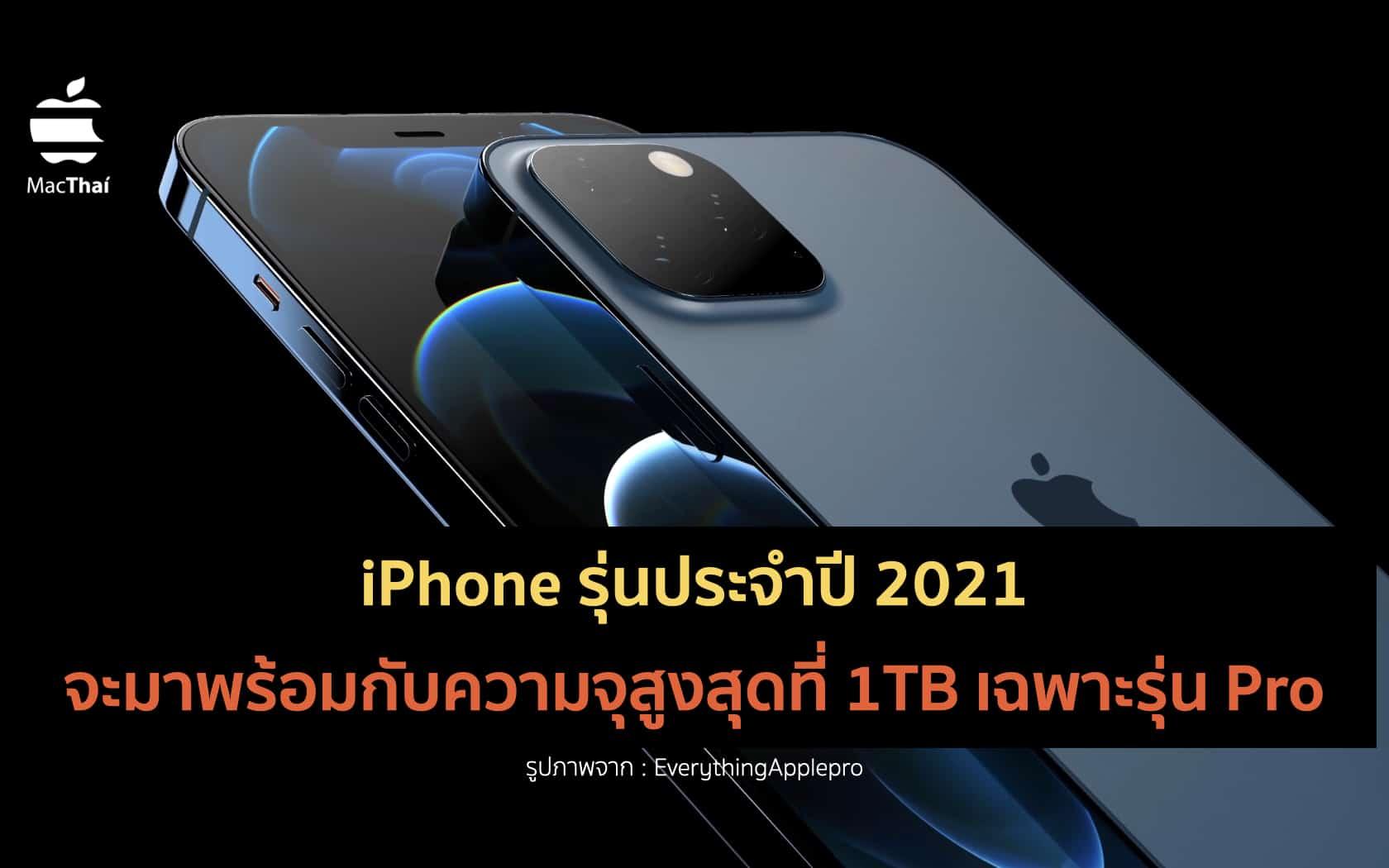 Jon Prosser เผย iPhone รุ่นประจำปี 2021 จะมาพร้อมกับความจุ ...