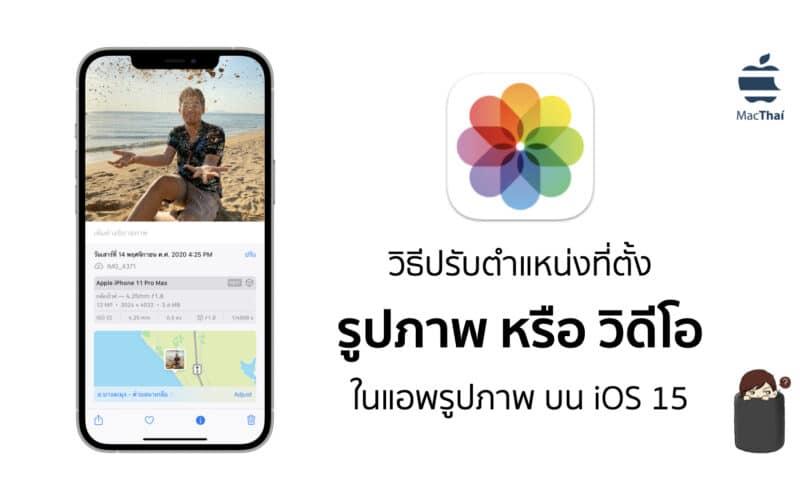 Tips: วิธีปรับตำแหน่งที่ตั้ง รูปภาพ หรือ วิดีโอ ในแอพรูปภาพ บน iOS 15